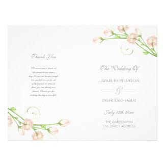 Roses vintages de jardin - programme de mariage prospectus 21,6 cm x 24,94 cm