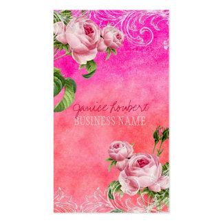 Roses vintages de PixDezines/aquarelle Carte De Visite Standard