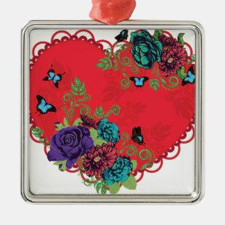 Roses vintages ornement et coeur