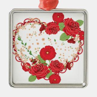 Roses vintages ornement et coeur 3