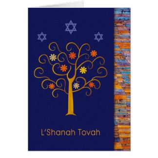 Rosh Hashanah. Carte de voeux juive de nouvelle