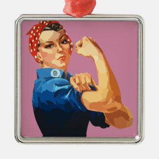 Rosie classique fait sur commande le rivoir ornement carré argenté