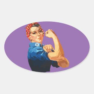 Rosie classique fait sur commande le rivoir sticker ovale