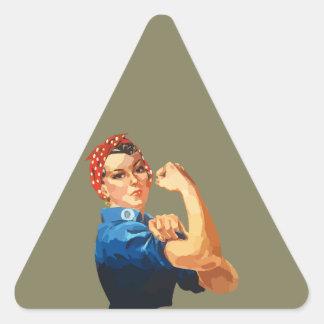 Rosie classique fait sur commande le rivoir sticker triangulaire