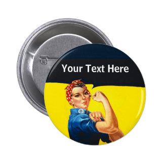 Rosie la travailleuse active d'effort de guerre de badge