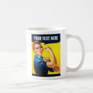 Rosie la travailleuse active d'effort de guerre de mug