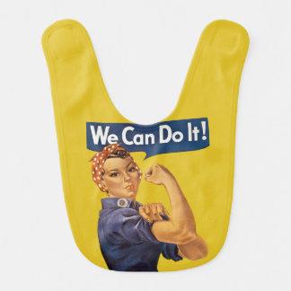 Rosie le cru de rivoir nous pouvons le faire ! bavoirs pour bébé