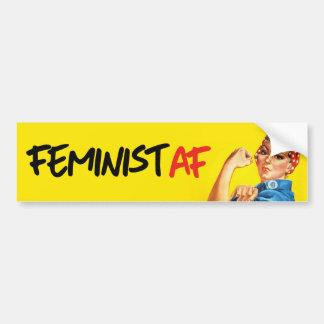 Rosie le rivoir - AF féministe - pare-chocs Autocollant Pour Voiture