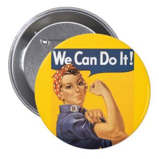 """Rosie le rivoir """"nous pouvons le faire """" badge avec épingle"""