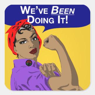 Rosie-Weve noir le faisant Sticker Carré