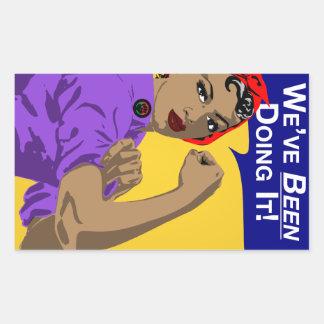 Rosie-Weve noir le faisant Sticker Rectangulaire