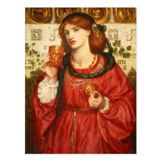 Rossetti la carte postale de la tasse affectueuse