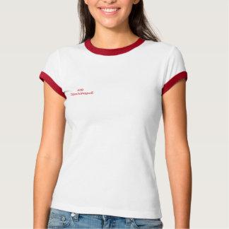 Rossi de bordi de donna de T-shirt