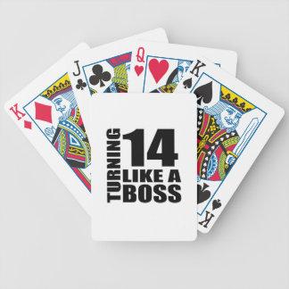 Rotation de 14 comme des conceptions d'un jeu de cartes
