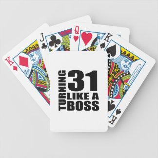 Rotation de 31 comme des conceptions d'un jeu de cartes