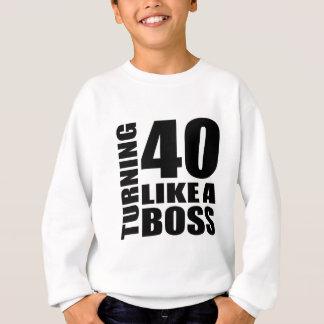 Rotation de 40 comme des conceptions d'un sweatshirt