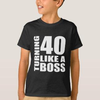 Rotation de 40 comme des conceptions d'un t-shirt