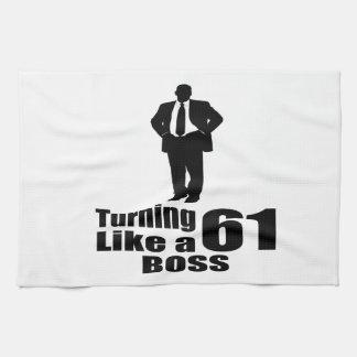 Rotation de 61 comme un patron serviettes éponge