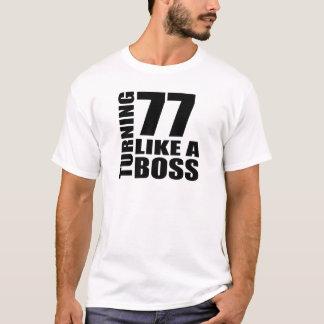 Rotation de 77 comme des conceptions d'un t-shirt