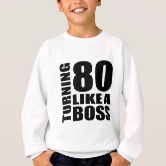 Rotation de 80 comme des conceptions d'un sweatshirt