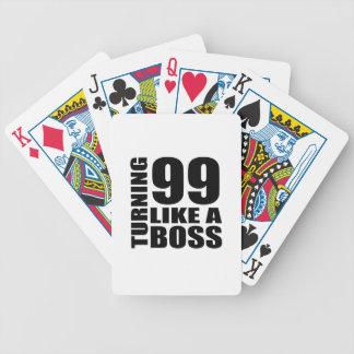 Rotation de 99 comme des conceptions d'un jeu de cartes