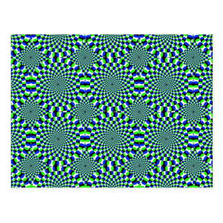 Rotation de rotation de roues d'expansion carte postale