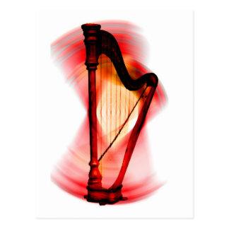Rotation d'harpe carte postale