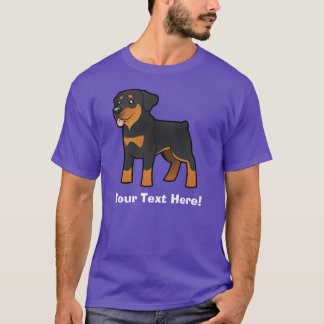 Rottweiler de bande dessinée t-shirt