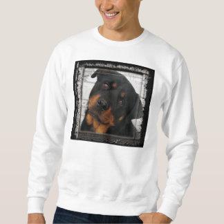rottweiler-encadré sweatshirt