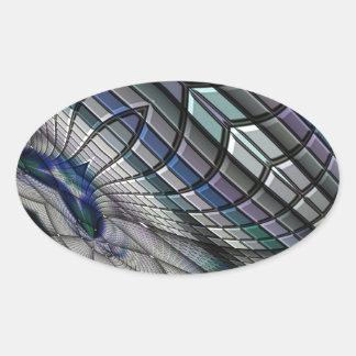 Roue d'acier sticker ovale