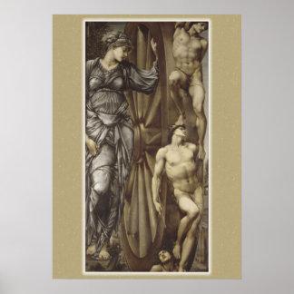 Roue de Burne-Jones d'affiche de la fortune CC0183 Posters