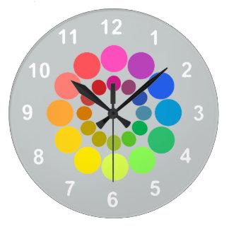 Roue de couleur… avec votre couleur d'arrière - grande horloge ronde