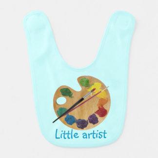 Roue de couleur colorée d'arc-en-ciel de palette bavoirs de bébé