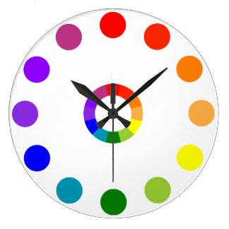 Roue de couleur de RYB innombrable Grande Horloge Ronde