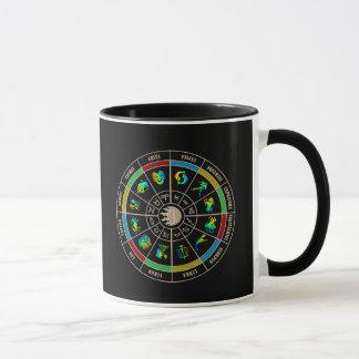 Roue de couleur de zodiaque mug