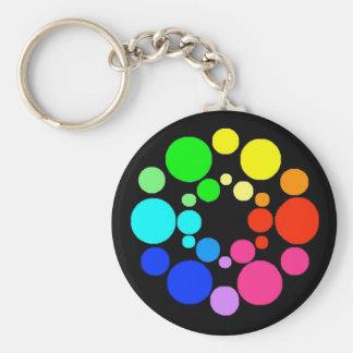 Roue de couleur, noir, porte-clés