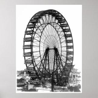 Roue de Ferris à l'Exposition universelle de Posters