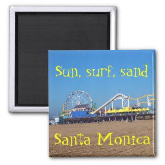 Roue de Ferris de plage pilier de Santa Monica, la Magnet Carré