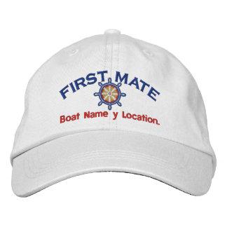 Roue de premier compagnon votre nom de bateau casquette brodée