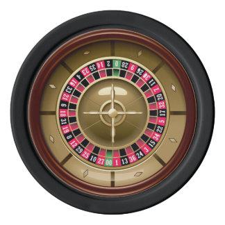 Roue de roulette jetons de poker