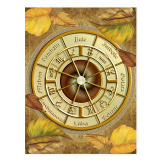 Roue de Wiccan de la carte postale d'année