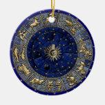 Roue de zodiaque ornements de noël