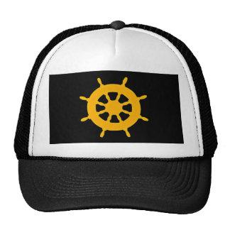 Roue d'or de bateau casquettes de camionneur