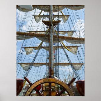 Roue et calage de bateau de navigation