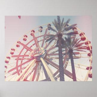 Roue et paumes de Ferris Posters