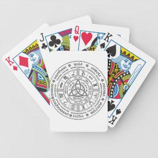 Roue païenne de l'année jeux de cartes