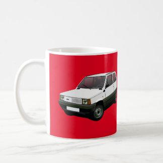 Rouge 30/45 de Fiat Panda Mug Blanc
