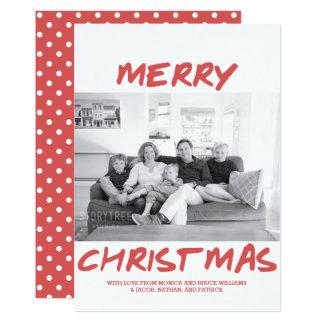 Rouge à la mode du carte photo | de Joyeux Noël