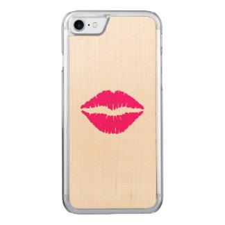 Rouge à lèvres de roses indien coque iphone 7 en bois