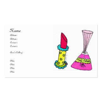 Rouge à lèvres et cartes de visite de vernis à ong carte de visite standard